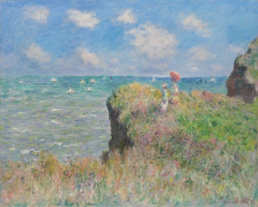 Cliff Walk at Pourville, Claude Monet
